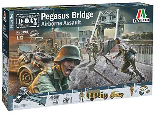 "Italeri 6194 - 1:72 Battle-Set-""Pegasus Bridge"", Modellbau, Bausatz, Standmodellbau, Basteln, Hobby, Kleben, Plastikbausatz"