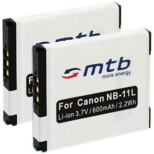 2X Akku NB-11L für Canon IXUS 155, 185, 190, 275 HS, 320 HS … / PowerShot A2050, A3200, A4050 / SX400 is, SX420 …. - weitere Modelle Siehe Liste!