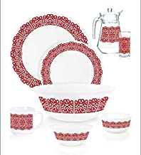 ENDURA DINNER SET EASTERN PALACE, Arcopal, RED, 40 PCS FULLY TEMPERED - K6677