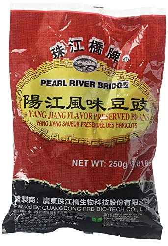 Pearl River Bridge Yang Jiang Flavor Preserved Beans, 250 g/8.82 oz. (2 Pack - 250 g)