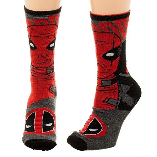 Deadpool Reversible Licensed Girl's Junior Girls Crew Socks