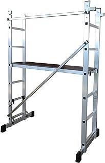 comprar comparacion ALTIPESA Escalera - andamio Profesional de Aluminio 2 x 6 peldaños Multiusos