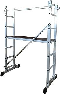 Sotech Andamio Escalera Andamio 171 x 160 x 40 cm Carga m/áxima: 150 kg EN 131 3 en 1 de Aluminio Multiprop/ósito Combinaci/ón y Andamio Plataforma de Trabajo