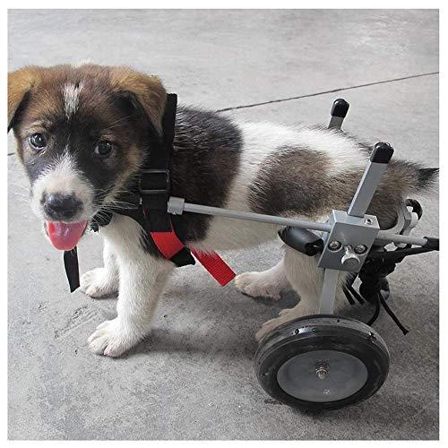 KAISIMYS Hundewagen, geeignet für Haustiere, Hinterbeine, Rehabilitierte Gliedmaßen, Behinderte Gehhilfe, große kleine Hunde, verstellbar, 2 Räder, 1 kg - 25 kg (55 lbs), in verschiedenen Größen erhä