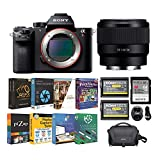 Sony Alpha a7R II Full-Frame Mirrorless Digital Camera with FE 50mm f/1.8 Lens with Accessory Bundle (6 Items)