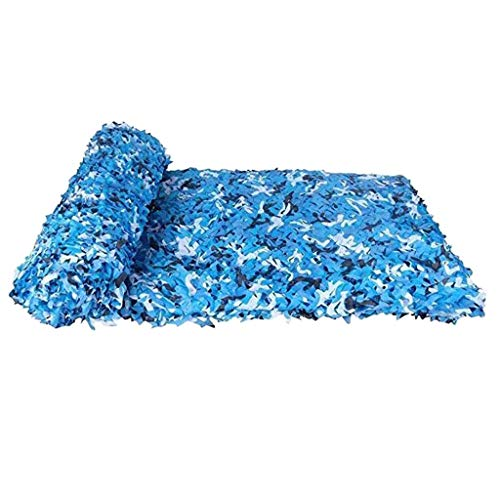 Tentzeil / zonnecrème memesh sh-winkel camo netting zonnecrème blauw camouflagenet voor autodekens decoratie camping strand zonnescherm tent schaduw 10x30m