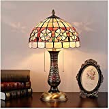 GXY Table Lamp Night Light for Bedroom, Home Art Deco, European Living Room Bedroom Decoration Glass Table Lamp Bedside Lamp Study,B