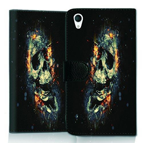 wicostar Wallet Book Style Flip Handy Tasche Hülle Schutz Hülle Schale Motiv Etui für LG L Bello 2 - Flip UMH13 Design11
