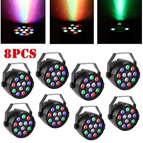 8 Stücke RGBW PAR64 12 LED DMX-512 Scheinwerfer Club Licht FloorSpot Licht DJ Licht Disco Licht