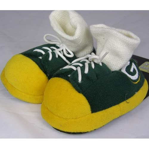 9cfd5ef70 Amazon.com   Green Bay Packers NFL Premium Baby Sneaker Slippers   Sports  Fan Slippers   Sports   Outdoors
