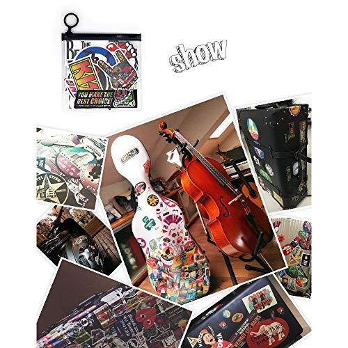 makstore 55 Stücke Band Rock Punk Aufkleber für Laptop Autos Motorrad Fahrrad Graffiti Patches Skateboard, Musik Stickers wasserdicht