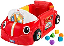 Fisher-Price Laugh & Learn Crawl Around Car, stationary play center for babies and toddlers [ Exclusive]