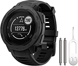NotoCity Instinct Band, Soft Silicone Replacement Watch Strap ONLY Compatible Garmin Instinct Sports GPS Smart Watch with Adapter Tools