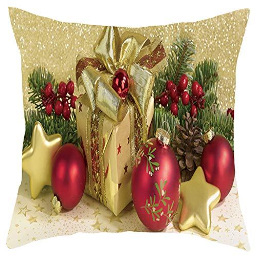 Lilicat Weihnachten Kissenbezüge Mode Kurze Plüsch Kissenbezug Bequem Elegant Kissen Kissenbezüge,Weich Bequem,Für Sofa Wohnzimmer Schlafzimmer Dekor,18x18inch