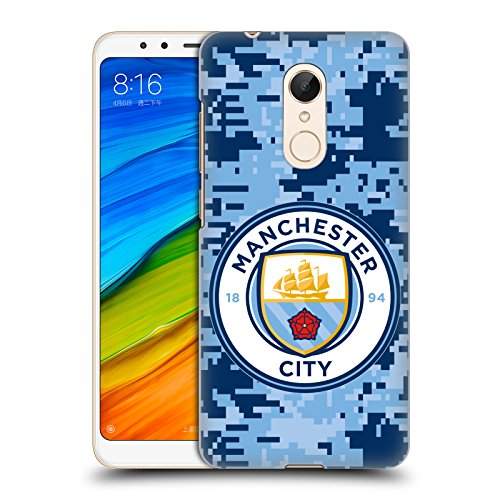 Head Case Designs Oficial Manchester City Man City FC Brick Bluemoon Camuflaje Digital Carcasa rígida Compatible con Xiaomi Redmi 5