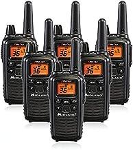 Midland LXT600VP3 36 Channel FRS Two-Way Radio - Up to 30 Mile Range Walkie Talkie - Black (Pack of 6)