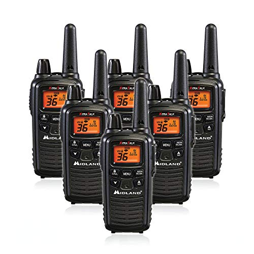 Midland LXT600VP3 36 Channel FRS Two-Way Radio - Up to 30 Mile Range Walkie Talkie - Black (Pack of 6). Buy it now for 159.95
