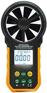 YUWEIPING Anemometer Digital Anemometer Anemometer with Temperature and Humidity Test Wind Speed Wind Meter (Color