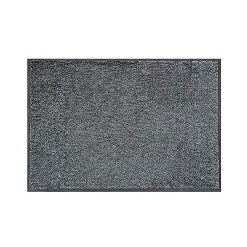 teapot Commercial Door Mat Hotel Mall Household Entrance Mats Non-slip Rug Dust-proof Mat Wear-resistant Non-slip Rubber Mat (Color : Gray, Size : 45X75CM)