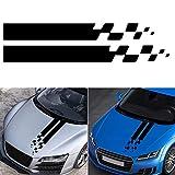 HELLOGIRL 2 piezas cubierta del capó del coche pegatina película de vinilo cuerpo motor capucha etiqueta para Universal