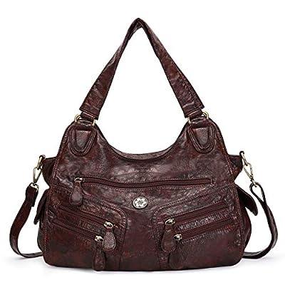 kiss Satchel Handbag for Women Ultra Soft Washed 19022021120429