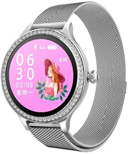 Fitness-Tracker für Damen, Smart-Fitness-Tracker, Herzfrequenzmesser, Smart-Armband, Blutdruck, Schrittzähler, wasserdicht, Farbe: Schwarz