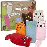 6x Minz Miezen: Premium Katzenspielzeug Set aus Katzenkissen mit Katzenminze –...