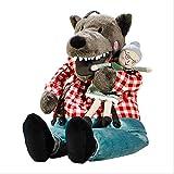 QIXIDAN Plüschpuppe 30Cm Rotkäppchen Spielzeug Plüschtier Und Oma Puppen Geschenk