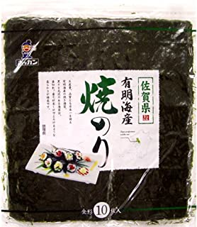ホッカン 佐賀県有明海産焼のり 全形10枚×5袋