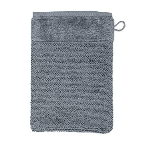 MÖVE Bamboo Luxe Gant de Toilette 15 x 20 cm, Fabriqué en Allemagne, 60% coton / 40% viscose en pulpe de bambou, Stone (Gris)