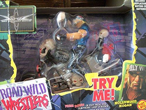 WCW Road Wild Wrestlers Hollywood Hulk Hogan Action Figure Motorcycle Toy Biz