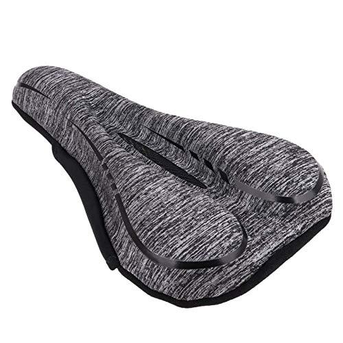Frieed Asiento MTB con Espuma De Memoria Cubierta De Silicona 3D del Gel Acolchado Ultra Cómodo Cojín Ejercicio Sillín Durable (Color : Gray Black)