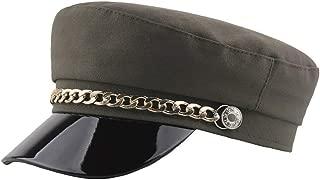 Iusun Men Women Berets Flat Top Comfortable Hat Korean Painter Newsboy Baggy Headgear Vintage Fashion Slouchy Navy Caps
