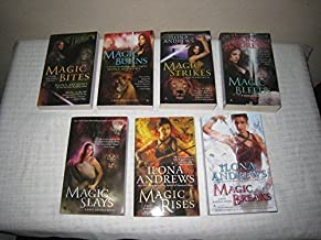 Books 1-7 of Ilona Andrews Kate Daniels Magic Series (Set Includes: Magic Bites, Magic Burns, Magic Strikes, Magic Bleeds, Magic Slays, Magic Rises and Magic Breaks)