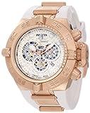 Invicta Men's 11801 Subaqua Noma IV Chronograph Silver Dial White Silicone Watch