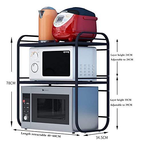 YUEXIANG Utensile da Cucina cremagliera Cucina Mensola Microonde Cucina Mensola Double Layer di Un Pezzo per Uso Domestico a Sc
