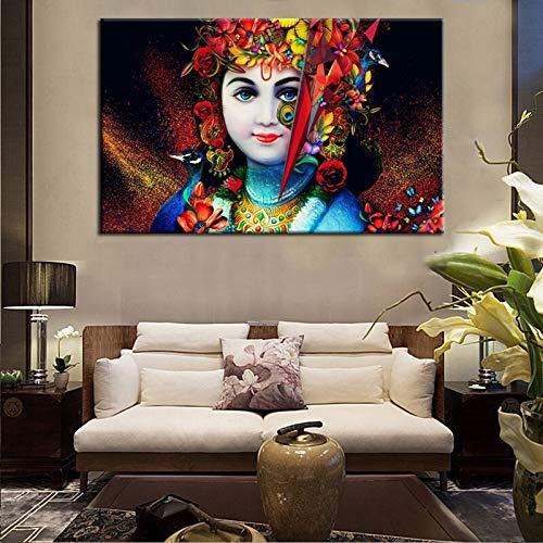 sanzangtang Hindu poster en fotobehang canvas schilderij mooie Lord foto's woonkamer wanddecoratie zonder lijst