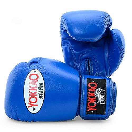 Yokkao Boxing Guante de Boxeo de Muay Thai Transpirable Yokkao Matrix - Negro, Rojo, Blanco, Amarillo, Verde, Gris - 2018 (14 onzas - Azul)