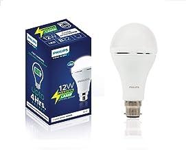Philips Inverter Bulb 12 Watt Rechargeable Emergency LED Bulb for Home, Cool Daylight, Base B22