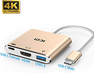 USB C Adapter, ICZI USB Type C to 4K HDMI Adapter with 3.0 USB Port and Type C 3.1 Charging Port for MacBook,ChromeBook Pixel,Hp Spectre x360,Huawei Mate 10,Asus zenbook,Thunderbolt