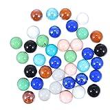 TOYANDONA 50 Piezas de Piedras de Canicas de Cristal Gemas 16Mm para Niños Juguetes Jarrones Rellenos de Mesa Cuentas de Vidrio de Dispersión Acuario Paisaje Ornamentos