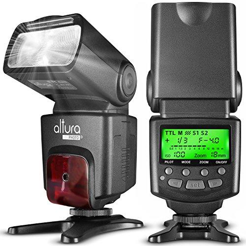 altura photo ttl flashes Altura Photo AP-N1001 Speedlite Flash for Nikon DSLR Camera with Auto-Focus, I-TTL, Wireless Trigger Slave Function