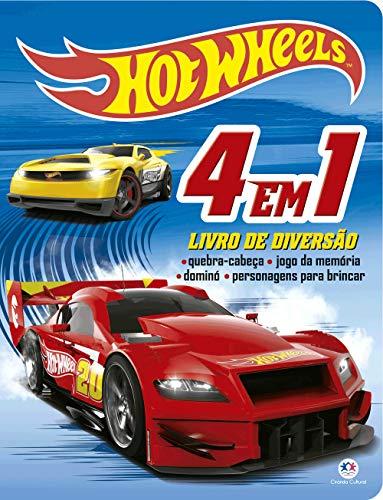 Hot Wheels - 4 em 1 - Livro de diversão