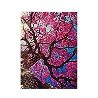 桜の木 500ピース ジグソーパズル ピクチュアパズル 木製の風景パズル、人物 動物 風景 漫画絵のパズル 大人の子供のおもちゃ家の装飾風景パズル Puzzle 52.2x38.5cm
