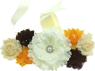 Women's Bridal Bridesmaid Belt Pregnant Flower Sash Wedding Prom Belts PTK16-C