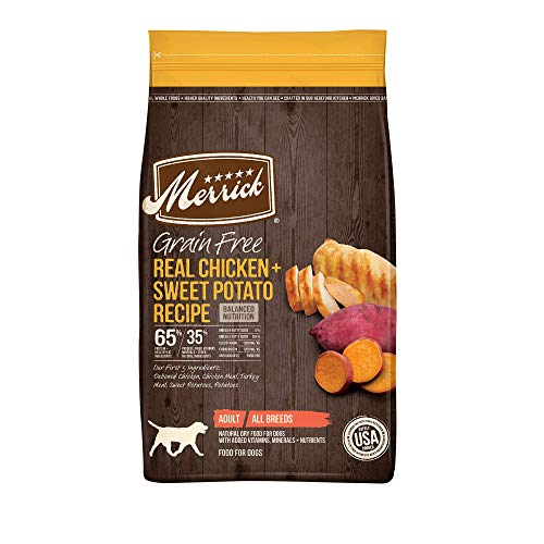 Merrick 38563 Grain Free Dry Dog Food Real Chicken & Sweet Potato Recipe - 22 Lb Bag