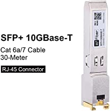 SFP+10GBASE-T Transceiver Copper RJ45 Module Compatible for Cisco SFP-10G-T-S, D-Link, TP-Link, Unifi, Linksys, Supermicro, Reach 30m, for Data Center, Switch, Router