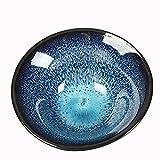 ZAIXO Copa de té de porcelana de Kungfu Copa de té de la vendimia china Tianmu Glaze Kiln cambió Kubek Do Herbaty Cocina suministros (Color : Bule)
