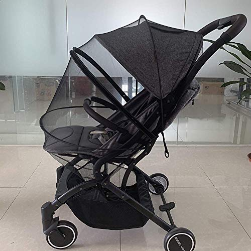 Universal Stroller Baby Canopy Protection Awning Foldable Adjustable Umbrella Cap Summer Infant Trolley Pushchair Mosquito Net,Black,43 100CM
