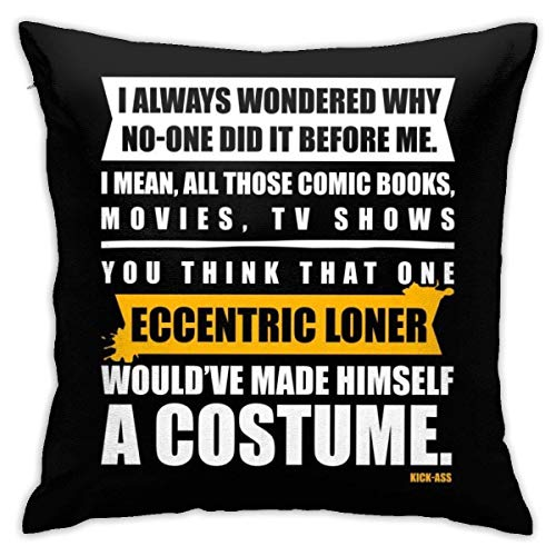 yukaiwei1 Cushion Cover Kick Ass Opening Lines Sofa Party Couch Cushions Pillowcase 18x18 Soft Plush Throw Pillow Covers Zipper Couch Cozy Decorative Durable Living Quarters Bedroom Personalized